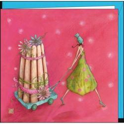 """Carte Gaëlle Boissonnard """"La charlotte de fleurs"""" 16x16 cm"""