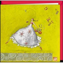 """Carte Gaëlle Boissonnard """"La femme à l'arrosoir"""" 16x16 cm"""