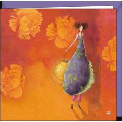 Carte Gaëlle Boissonnard - La femme au lampion - 16x16 cm