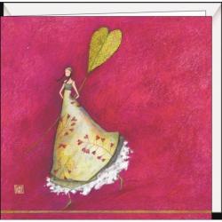 """Carte Gaëlle Boissonnard """"La feuille en forme de coeur"""" 16x16 cm"""