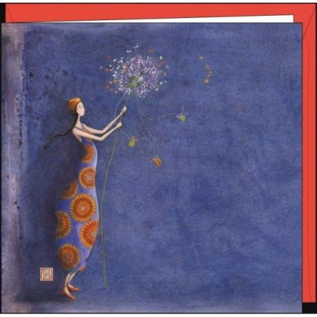 """Carte Gaëlle Boissonnard """"Le bouquet de violettes"""" 16x16 cm"""