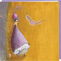 "Carte Gaëlle Boissonnard ""Le chapeau fleuri"" 16x16 cm"