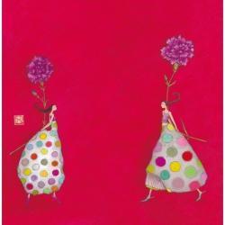 """Carte Gaëlle Boissonnard """"Les jumelles"""" 16x16 cm"""