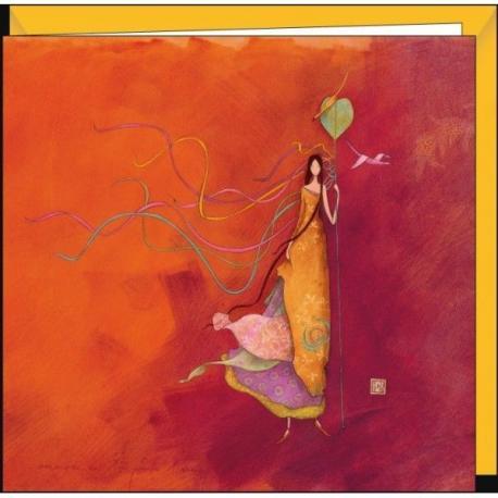 """Carte Gaëlle Boissonnard """"Les serpentins"""" 16x16 cm"""