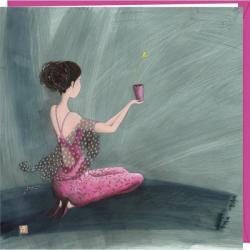 """Carte Gaëlle Boissonnard """"Offrir un coeur"""" 16x16 cm"""