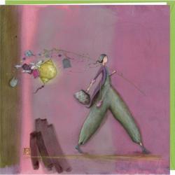 Carte Gaëlle Boissonnard - Partir.. - 16x16 cm