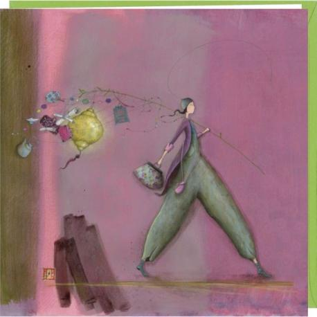 "Carte Gaëlle Boissonnard ""Partir.."" 16x16 cm"
