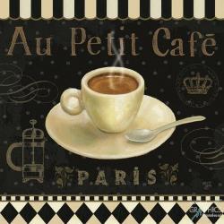 Carte Daphné Brissonnet - Café Parisien II - 14x14 cm