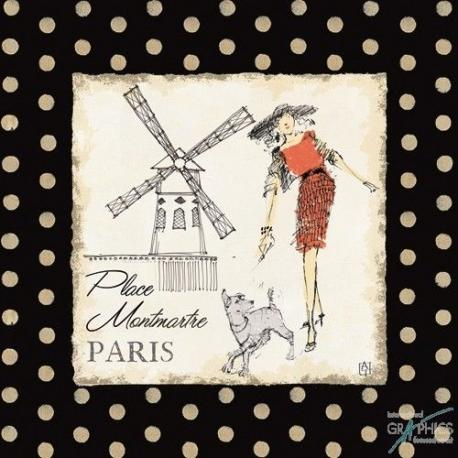 Carte Avery Tillmon - Ladies in Paris III - 14x14 cm