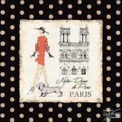 Carte Avery Tillmon - Ladies in Paris IV - 14x14 cm