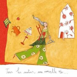 """Carte Anne-Sophie Rutsaert """"Tous les matins, une nouvelle vie..."""" 14x14 cm"""