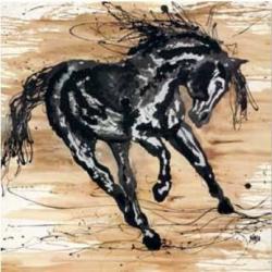 """Affiche Naja """"Cheval Le Danseur"""" - 70x70 cm"""