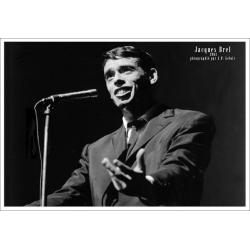 Jacques Brel - Concert - Affiche 50x70 cm