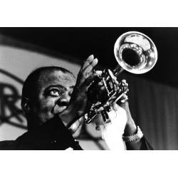 Louis Armstrong - Affiche 50x70 cm