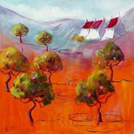 Carte Emmanuelle Brett - Arbres En Têtes - 14x14 cm