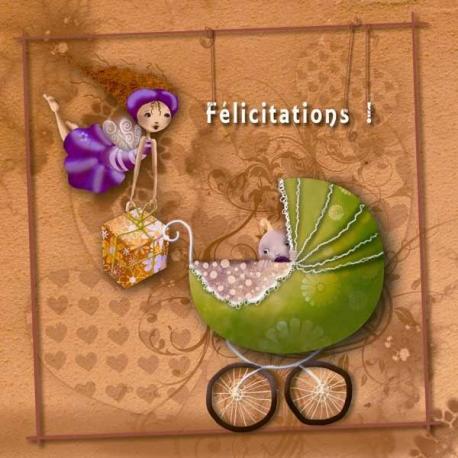 Carte Laure Phelipon - Félicitations - 14x14 cm