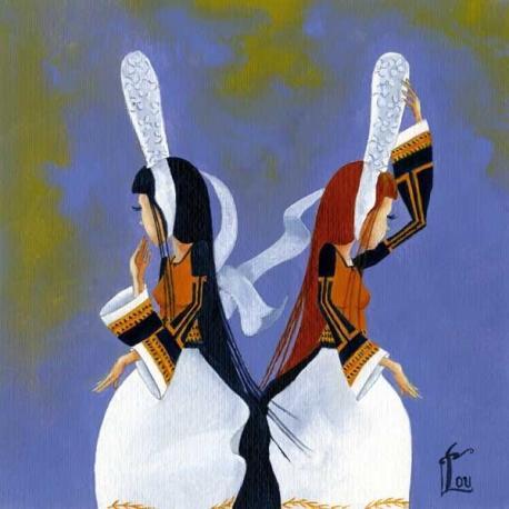 Carte Lou Auvray - Les Jumelles - 14x14 cm