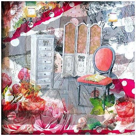 Carte Julie Grugeaux - Le dressing d'alice - 14x14 cm