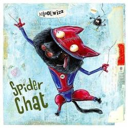 Carte Olivier Daumas - Spider chat - 14x14 cm