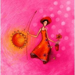 Carte Gaëlle Boissonnard - Un petit bout de soleil - 14x14 cm