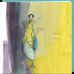 """Carte Gaëlle Boissonnard """"Sous la neige"""" 16x16 cm"""