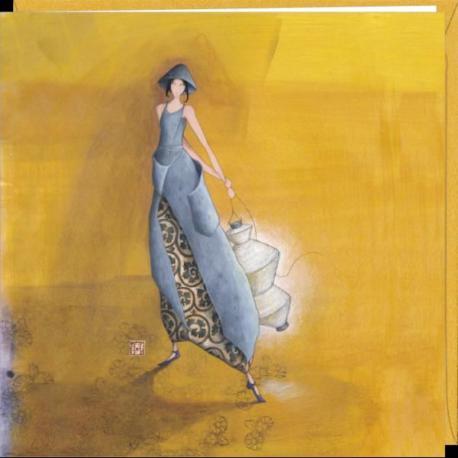 "Carte Gaëlle Boissonnard ""Lanterne blanche"" 16x16 cm"