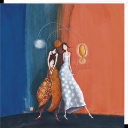 """Carte Gaëlle Boissonnard """"Lampion jour lampion nuit"""" 16x16 cm"""
