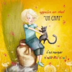 Carte Amélie Thiebaud - Appeler un chat un chat - 14x14 cm