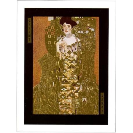 """Affiche Gustav Klimt """"Portrait Adèle Bloch"""" 60x80 cm"""