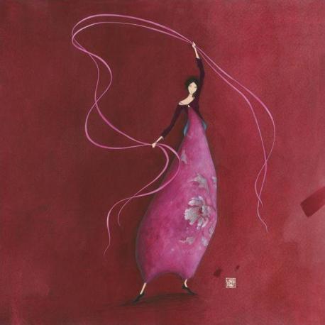 Carte Gaëlle Boissonnard - Les rubans - 14x14 cm