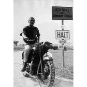 Affiche Steve Mc Queen - La Grande Evasion - moto - 50x70 cm