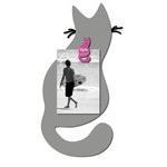 Porte Photo Bruit de cadre : Collection Chat (Gris) 1 Vue 16x34 cm