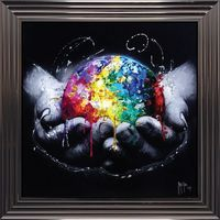 Tableau de Patrice Murciano - We are the World - 84x84 cm
