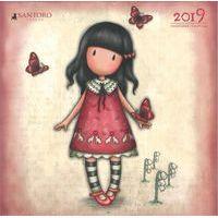 Calendrier 2019 Gorjuss - La fille aux papillons - 30x30 cm