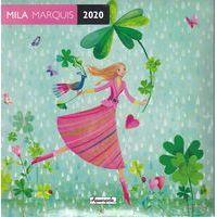Calendrier 2020 Mila Marquis - Danse sous la pluie - 16X16 cm