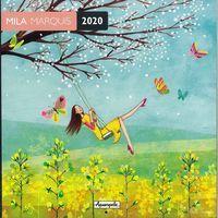 Calendrier 2020 Mila Marquis - La balançoire - 30x30 cm