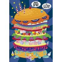 Carte Lali - Happy burger to you ! - 10.5x15 cm