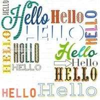 Carte Hello Hello - Collection Caractère - CAR061- 14.5x14.5 cm
