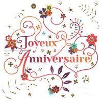 Carte joyeux anniversaire - Collection Caractère - CAR066 - 14.5x14.5 cm