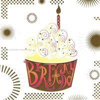 Carte anniversaire birthday - Collection Caractère - CAR067 - 14.5x14.5 cm
