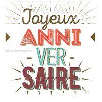Carte joyeux anniversaire - Collection Caractère - CAR072 - 14.5x14.5 cm