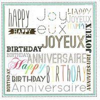 Carte happy joyeux anniversaire - Collection Caractère - CAR075 - 14.5x14.5 cm