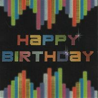 Carte happy birthday - Collection Caractère - CAR079 - 14.5x14.5 cm