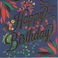 Carte Happy Birthday - Collection Caractère - CAR085 - 14.5x14.5 cm