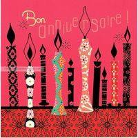 Carte Deco et Découpe - Bon anniversaire bougies - DD04 - 14.5x14.5 cm