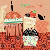 Carte Deco et Découpe - Joyeux anniversaire les gâteaux - DD15 - 14.5x14.5 cm