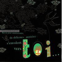 Carte Deco et Découpe - En ce jour d'anniversaire - DD21 - 14.5x14.5 cm