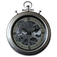 Horloge métal à engrenage - Diam 40 cm