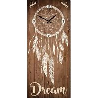 Horloge boho citation bois - Dreams... - 70x30 cm
