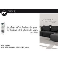 <p>Stickers citation J.B d'Aurevilly